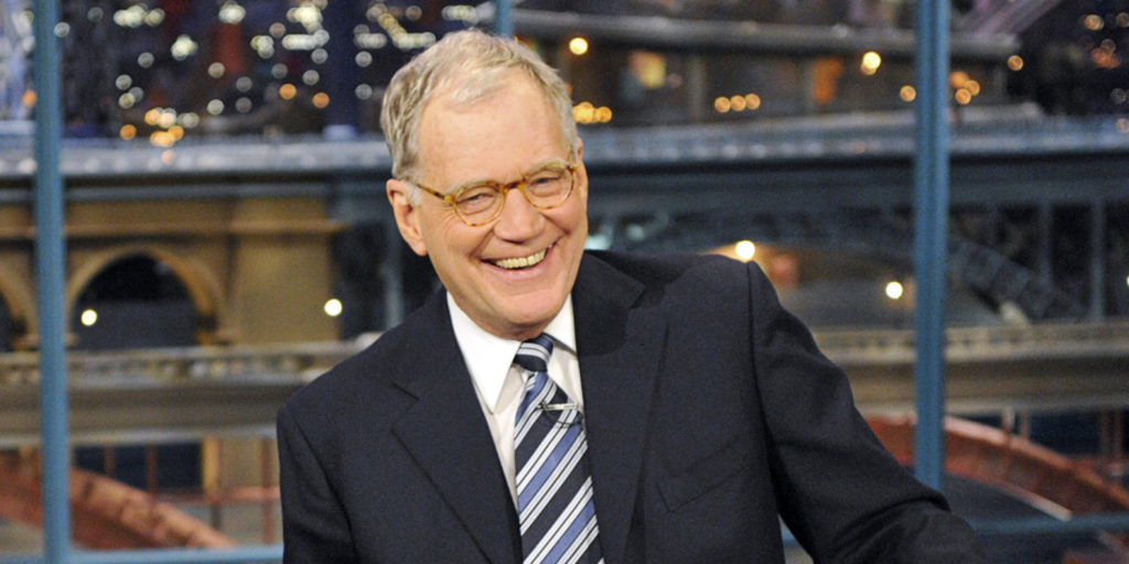 David Letterman on his late night talk show (image by CBS)