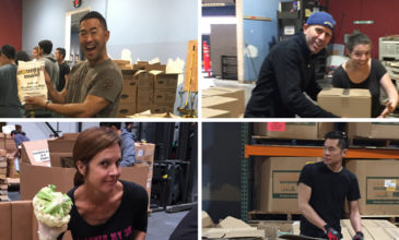 Hero employees helping out at the Marin Food Bank