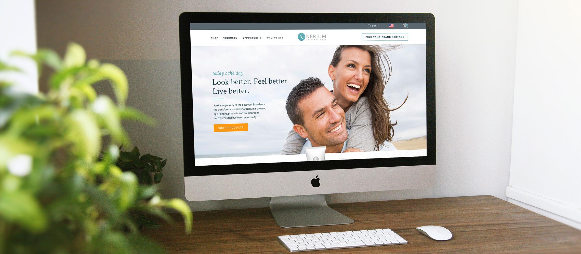 Nerium International Website by Hero Digital