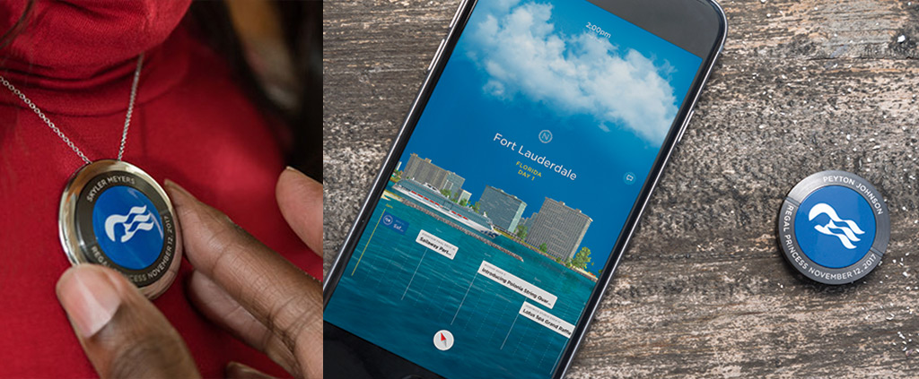 Princess Cruises Ocean Medallion and iPhone app interface