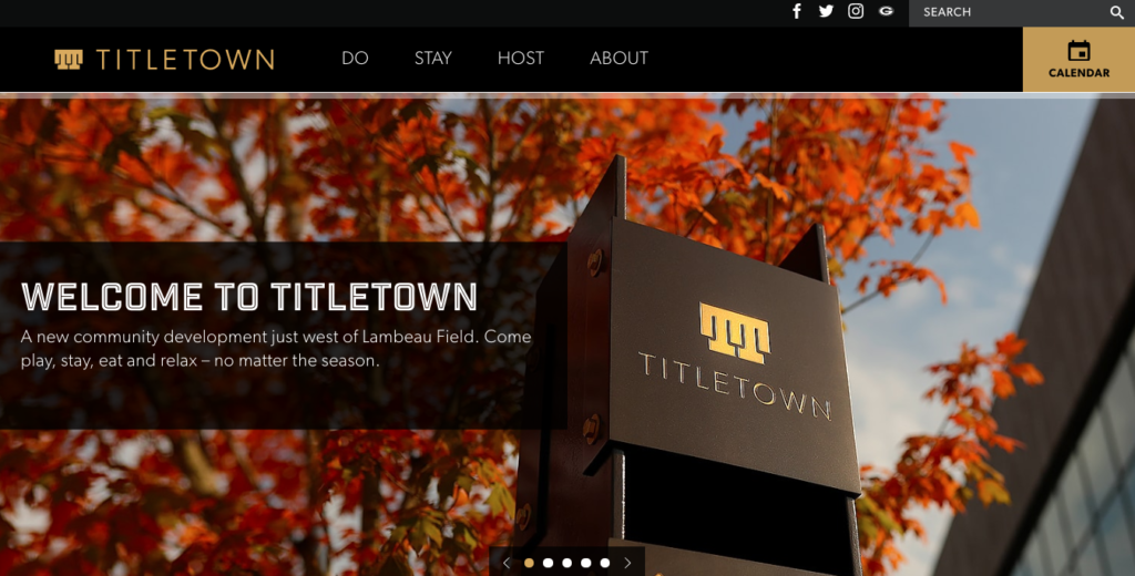 Titletown homepage