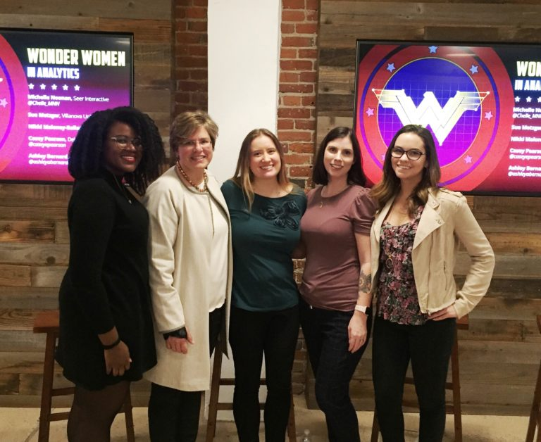 Hero representatives at Wonder Women in Analytics