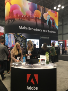 Adobe booth at NRF 2018