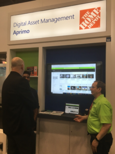 Aprimo booth at NRF 2018