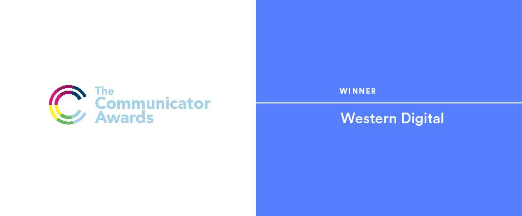 Communicator Awards logo with Western Digital