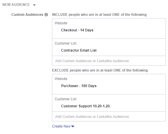 Applying Custom Audiences on Facebook