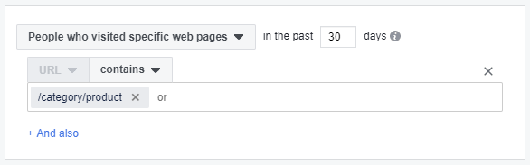 Specific Page URL Facebook Audience