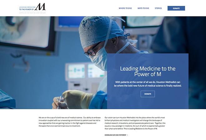 Houston Methodist Donation Website | Hero Digital