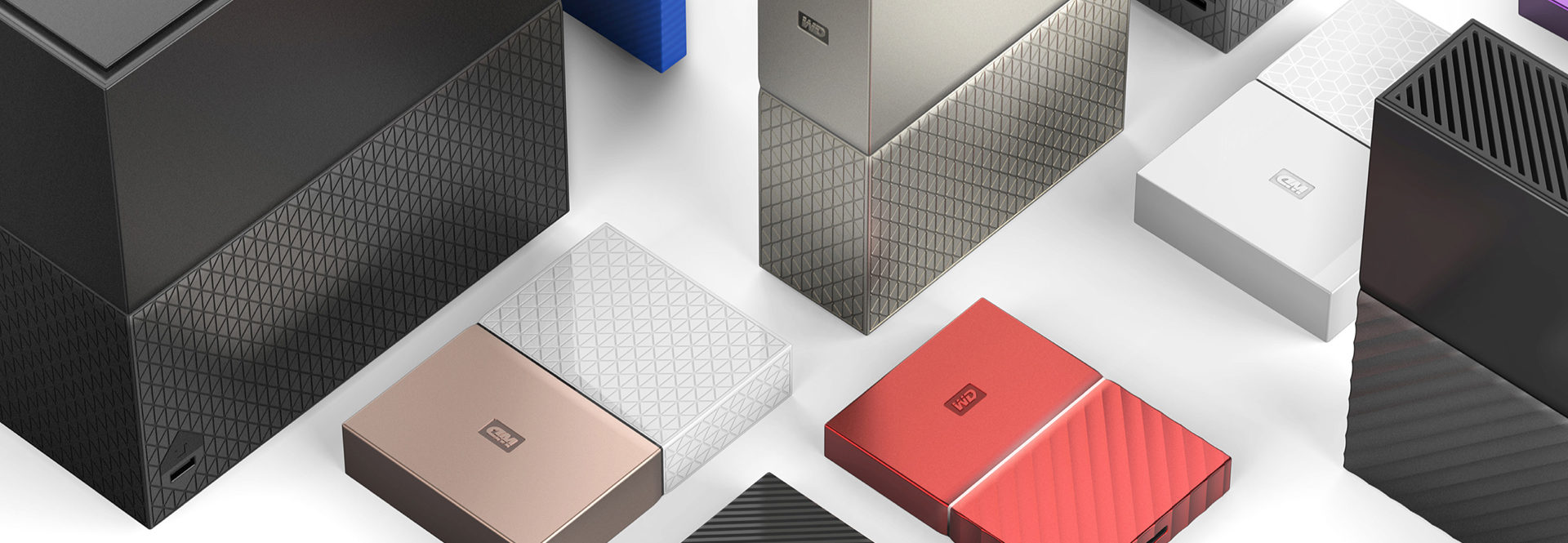 Range of Western Digital hard drive products