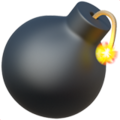 Emoji of a bomb with a lit fuse