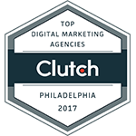 Clutch top digital marketing agencies award logo 2017