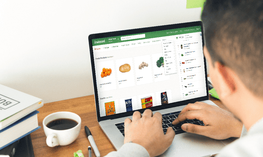 Instacart online interface for omnichannel emotional customer experience