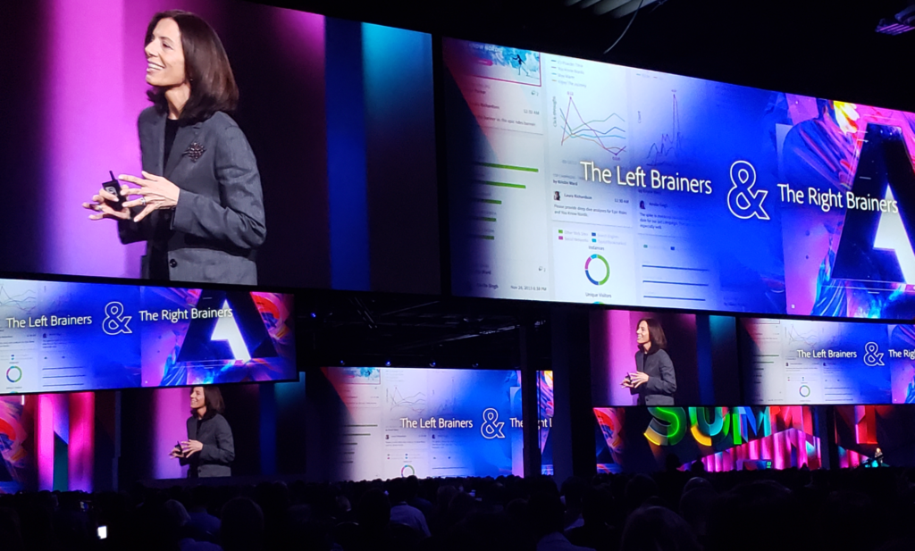 Adobe Summit 2019 keynote speaker stage
