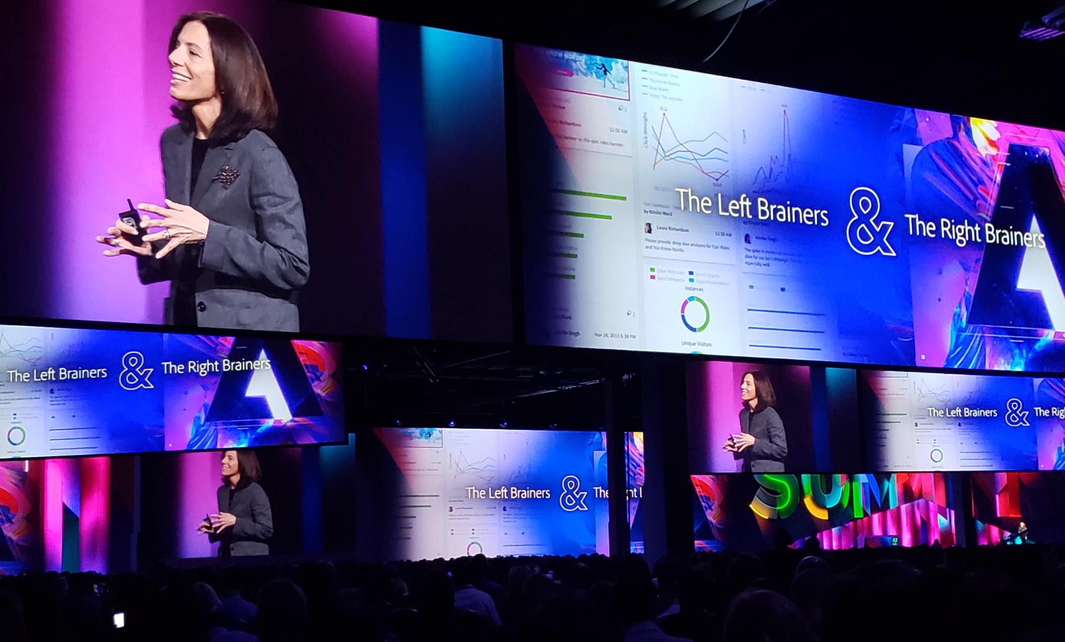 Adobe Summit 2019 keynote speaker stage